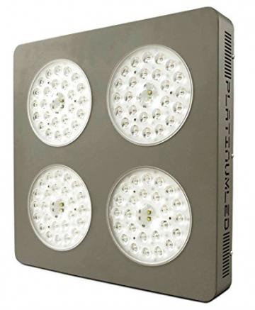 Advanced Platinum Series P4-XML2 380w 12-band LED Pflanzenlicht - optimierte Lichtspektren für Aufzucht- und Blütephase im Gewächshaus - 1