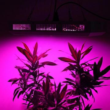 Derlight® 300W Das ganze Spektrum LED Pflanzenlampe für Gewächshaus Pflanze Bluete White Shell IR UV Licht für Zimmerpflanzen Blumen und Gemüse (300W) - 6