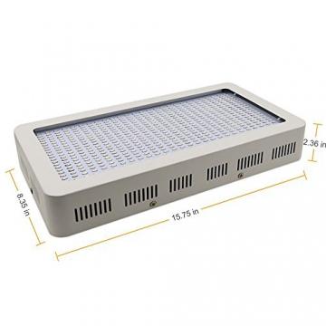 Derlight ® 600W Das ganze Spektrum LED Pflanzenlampe für Gewächshaus Pflanze Bluete White Shell IR UV Licht für Zimmerpflanzen Blumen und Gemüse (600W) - 3