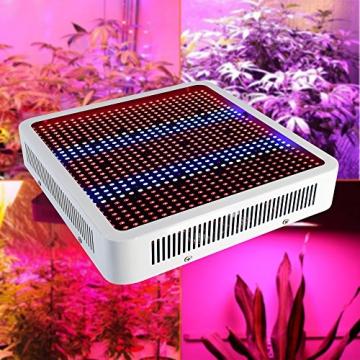 Derlight® 800W Hohe Energie Das ganze Spektrum LED Pflanzenlampe für Gewächshaus Pflanze Bluete White Shell IR UV Licht für Zimmerpflanzen Blumen und Gemüse (800W) - 1