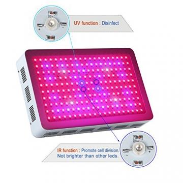 Roleadro ® 600W Led Grow Lamp für Gewächshaus Pflanze vollspektrum IR UV Licht für Zimmerpflanzen Growbox Blumen und Gemüse - 3