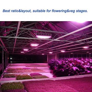 Roleadro ® 600W Led Grow Lamp für Gewächshaus Pflanze vollspektrum IR UV Licht für Zimmerpflanzen Growbox Blumen und Gemüse - 9