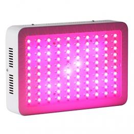 Roleadro 300W LED Grow Pflanzenlampe für Gewächshaus Pflanze Bluete im Growbox Weiß mit IR UV Licht für Zimmerpflanzen (308*208*60mm) - 1
