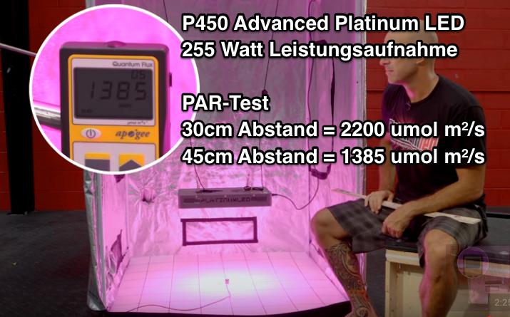 P450 PAR Wert Testergebnis