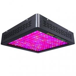 Mars II 900 LED Pflanzenlampe Vollespektrumt, echte 440W Verbrauch ±5% für Innenräume, Full Spectrum Blüte- und Vegetationsphase umschaltbar. Zusätzlich 4 IR LED -