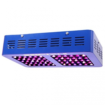 MEIZHI Reflector Series 300W LED Grow Light Switchable & Daisy Chain Full Spectrum for Hydroponic Indoor Plants Veg and Bloom -