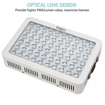 Niello® 300W LED Pflanzenlampe Optical Lens-Series Led Grow Light 12-Bands Full Spectrum Wachsen Licht Led Wachstumslampe Pflanzenlicht für Zimmerpflanzen Gemüse und Blumen - 2
